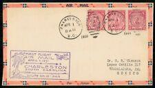 US FIRST FLIGHT 1931 COVER SOUTH CAROLINA CHARLESTON TO GUADALAJARA MEXICO