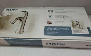 Moen Wellton 84980SRN One Handle Spot Resist Brushed Nickel Bathroom Faucet