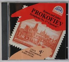 PROKOFIEV: Romeo and Juliet, Symph 1 Karel Ancerl Czesch RED FACE Supraphon CD