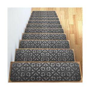 Carpet Stair Treads Set of 13 Non Slip/Skid Rubber Runner Mats or Rug Tread –...