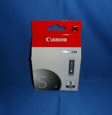 GENUINE CANON PIXMA INK CARTRIDGES - PGBK 5 BLACK -  SINGLE