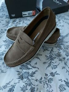Men's Rockport Suede Pennyloafers, Size 11m, Worn Once