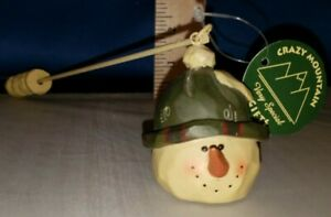 Candle Snuffer Snowman with Green Hat by Crazy Mountain Resin 5306 356