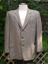 Vintage men's wool semi lined grey tweed jacket 40's-50's Besse Clark