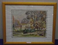 """Gerd Gramberg """"Schloss Rastede"""", Aquarell, signiert, datiert, 1974"""