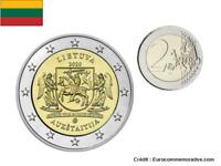 2 Euros Commémorative Lituanie Aukstaitija 2020 UNC