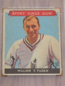 1933 Sport Kings William TIlden Card #16 PSA Poor 1 Tennis HOF