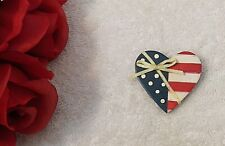 New listing Usa Flag Lapel Pin Stars Stripes Old Glory Red White Blue Heart Yellow Ribb Vl-Z