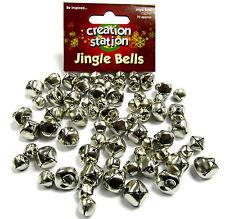JINGLE BELLS 70 Christmas Silver Gold Sleigh Metal  Craft Cat Musical 10mm 15mm