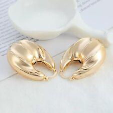 18k Gold Filled Bamboo Hoop Earring #6