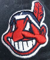 New Era 49 FORTY Cleveland Indians Curved Bill Hat Black Size XL NWT Chief Wahoo