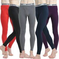Men's Baselayer Long Johns Pure Color Slim Warm Pants Soft Thermal Underwear