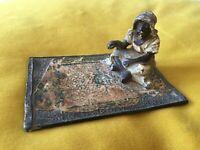 Magnifique BRONZE DE VIENNE ORIENTALISTE ANCIEN, représentant un fumeur de pipe