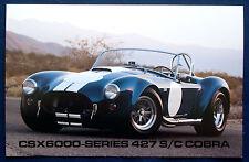 Prospekt brochure Datenkarte Shelby CSX 6000-Series 427 S/C Cobra Roadster (USA)