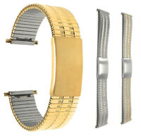 Bandini Steel Stretch Watch Band Expansion Strap Adjustable Silver, Gold 12-22mm