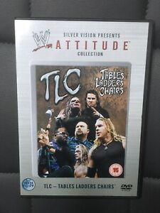 WWF WWE ATTITUDE COLLECTION TLC TABLES LADDERS CHAIRS DVD Hardy Boys Dudleys E&C