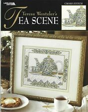 Leisure arts Teresa Wentzler cross stitch Chart 3544 Tea Scene