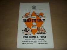 1970 RUGBY world series Great Britain v FRANCE programmes