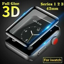 3D Apple Watch Series 1 2 3 Panzerfolie 42 mm Schutz Glas iWatch Displayschutz