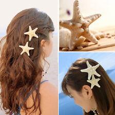 Fashion Unique Sea Star Womens Girls Elegant Starfish Hairpin Hair Clip FT