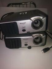 (2) Sharp PG-F262X DLP Projector 2600 Lumens HD 1 HDMI-adapter/1 Power Cord