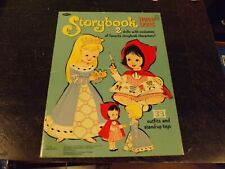 1965 uncut Whitman Storybook Paper Dolls Book 2 dolls 33 outfits