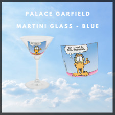 More details for palace garfield martini glass (blue)