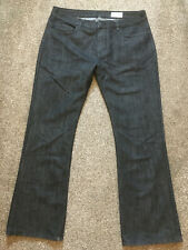 Mens Jeans 36/32 From Denim Co Bootcut Black colour VGC