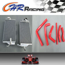 Aluminum Radiator AND RED HOSE for Honda CR250 CR250R CR 250 R 2000 2001 00 01