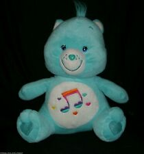 "12"" CARE BEAR HEARTSONG BLUE RAINBOW MUSIC NOTES STUFFED ANIMAL PLUSH TOY 2006"