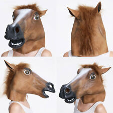 Horse Head Mask Latex Animal Costume Prop Gangnam Style Toys Party Halloween New