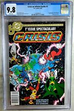 Crisis on Infinite Earths #1 NEWSSTAND D.C. 1985 CGC 9.8 NM/MT WPage Comic Q0094