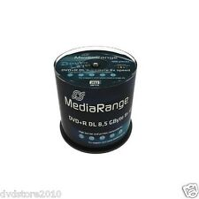 200 MediaRange DVD +R Double Layer 8.5GB 240min 8x inkjet DL printable MR471