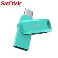 SanDisk 512Go Clé double connectique USB TypeC Dual Drive Go OTG Bleu Tiffany