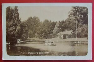 RP Postcard POSTED 1910 WARGRAVE BACKWATER WARGRAVE BERKSHIRE