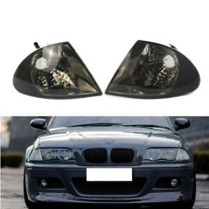 Pair Signal Smoke Indicator Corner Side Light FIT BMW 3 Series E46 1999-01 Sedan
