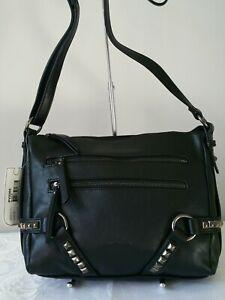 Vershe* Milleni trendy handbag, Shoulder & Cross body bag, studded, black, NWT