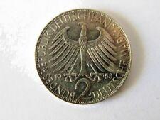 PIECE 2 DEUTSCHE MARK 1958 J MAX PLANCK EN ARGENT ALLEMAGNE GERMANY DEUTSCHLAND