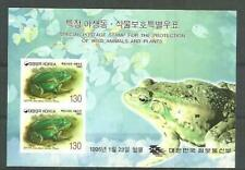 Korea 1995 Frogs and Plants S/S MNH