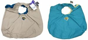 "Jacksonville Jaguars 15"" Reversible Canvas Handbag Purse, Teal & Tan, NFL"