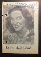 Original USSR WW 2 Surrender Leaflet Dropped on Italian Troops Hello Italy