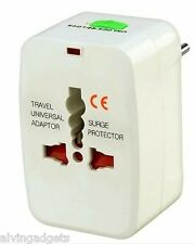Universal International Travel AC Adapter Plug AU EU UK US With Surge Protector