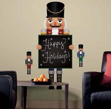 NUTCRACKER CHALKBOARD wall stickers MURAL 6 decals chalk holiday Christmas decor