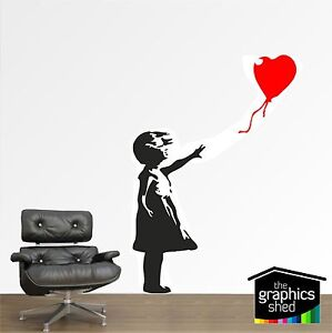 Banksy childhood Girl with balloon Large Vinyl wall art sticker decal modern
