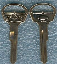 1959-1964 Vintage Ford Fairlane Blank Trunk/Glove Box Keys NOS MADE IN USA