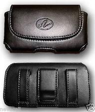 Leather Case Pouch for Tracfone Motorola EX124G, Verizon Motorola Barrage V860