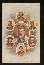 ROYALTY KING EDWARD 7th 1902 PPC THE SEVEN EDWARDS PERIODICAL CHRISTMAS SPECIAL