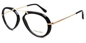 Tom Ford FT5346 Eyeglasses Color 001 Black Gold Size 53MM TF 5346 Unisex