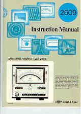 Bruel & Kjaer Various Instruction Manuals see description for availability Types