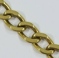"18K Yellow Gold ~CURB LINK BRACELET~ 7"" 14.7 grams"